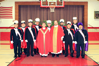 Bishop Conlon, Father Mark and The Knights of Columbus.